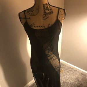 Sexy Black Mesh Ankle Length Mermaid Nightgown
